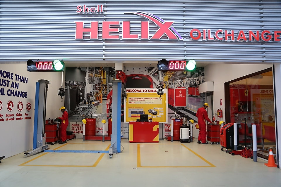 The fastest oil change facility