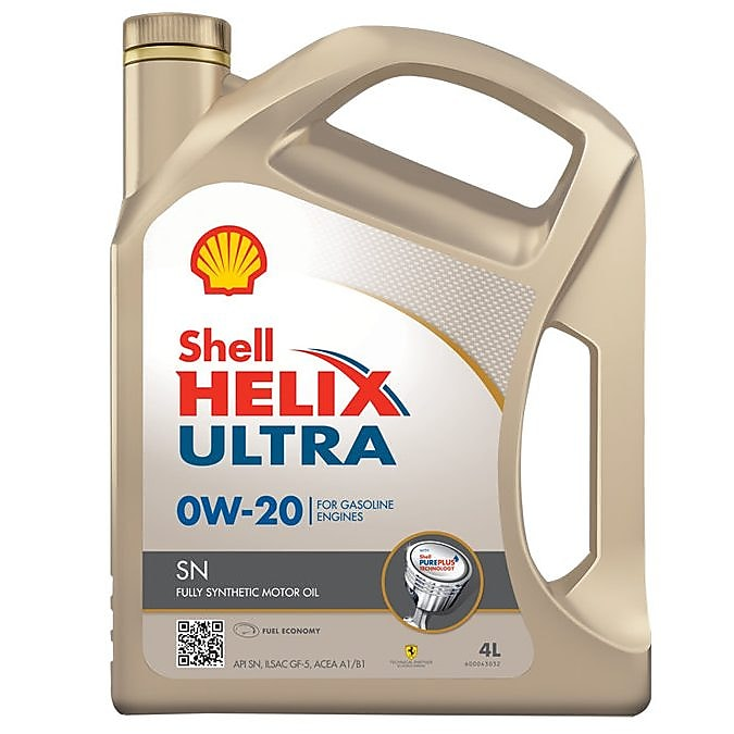Packshot of Shell Helix Ultra SN 0W 20